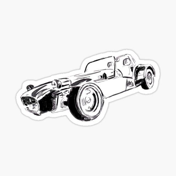 Lotus Caterham 7 voiture de sport britannique Sticker