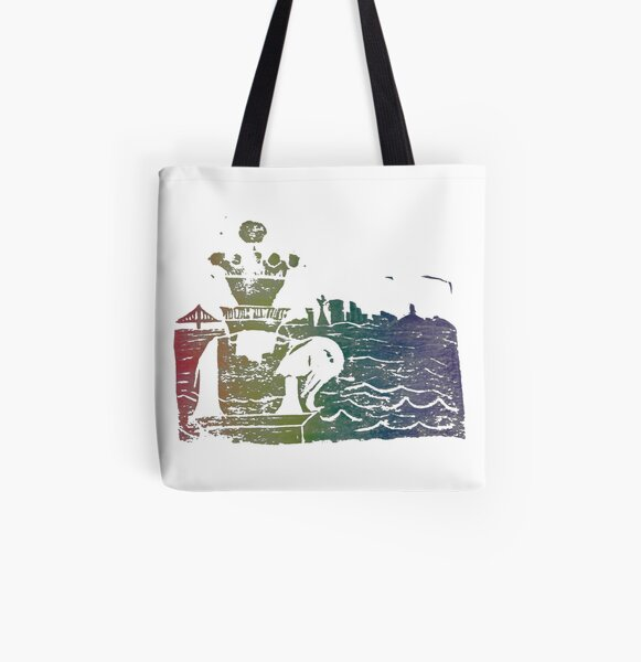 Sausalito - Rainbow All Over Print Tote Bag