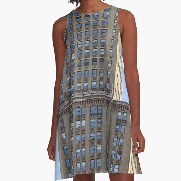 #architecture, #city, #sky, #outdoors, #tower, #skyscraper, #facade, #cityscape, #window A-Line Dress