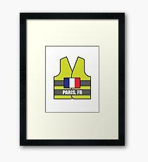 Lámina enmarcada Chalecos Amarillos - Paris, FR