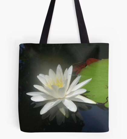Waterlily with Damselfly Tote Bag