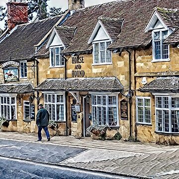 The Horse and Hound inn, Broadway, Cotswolds by Tarrby