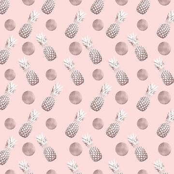 Pineapple Pattern with Happy Polka Dots #1 #decor #art by anitabellajantz