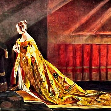 The Coronation Robes of  Queen Elizabeth II, Westminster Abbey, London 2 June, 1953 by ZipaC