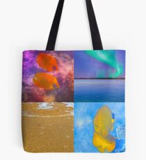 Sealife And Seashore Collage HDR Vertical 3 Tote Bag