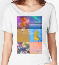 Sealife And Seashore Collage HDR Vertical 3 Women's Relaxed Fit T-Shirt