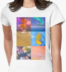 Sealife And Seashore Collage HDR Vertical 3 Women's Fitted T-Shirt