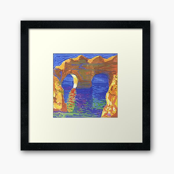 Sandy rocks. Algarve. Framed Art Print