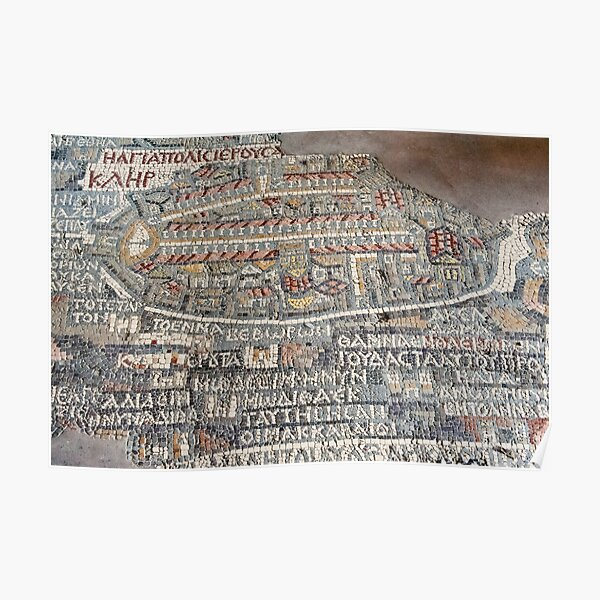 The Madaba Map of the Holy Land Poster