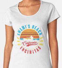 Swami's Beach Surfing T Shirt Premium Scoop T-Shirt