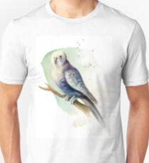 Blue Watercolour Budgie T-Shirt