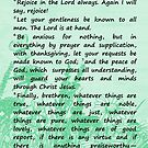 Bible Verses - Philippians 4:4-8 by EuniceWilkie