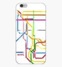 Vinilo o funda para iPhone Metro de Nueva York
