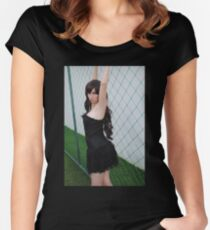 Black Corset 4 Women's Fitted Scoop T-Shirt