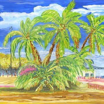Torre de Belém. palmtrees by terezadelpilar