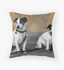 Two Jack Russell Terriers Throw Pillow