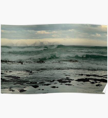 Wispy Surf, Great Ocean Road Poster