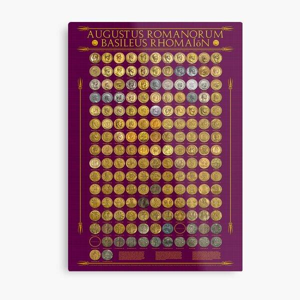 Roman Emperors 27 BCE - 1453 CE Metal Print