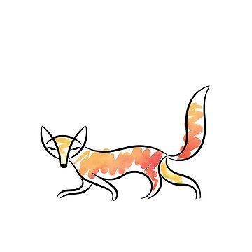 Watercolor Fox by eldram