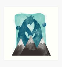 Wild Creatures on the mountains Art Print