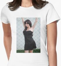 Black Corset 7 Womens Fitted T-Shirt