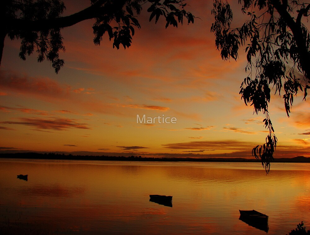 Burnt Gum Boat Sunset by Martice