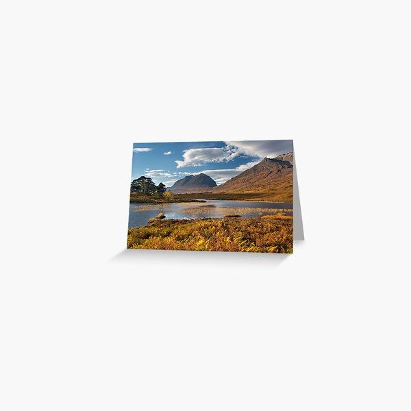 Autumn Scene Loch Clair Liathach Torridon. Scotland. Greeting Card
