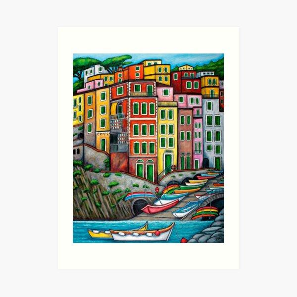 Colours of Riomaggiore, Cinque Terre Art Print