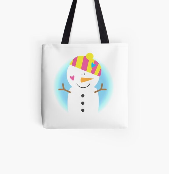 Sweet Snowman All Over Print Tote Bag