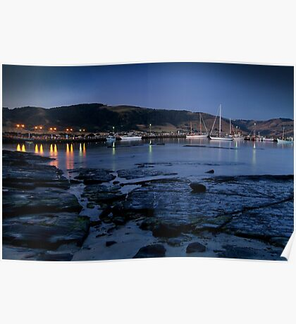 Twilight, Apollo Bay Harbour,Great Ocean Rd Poster