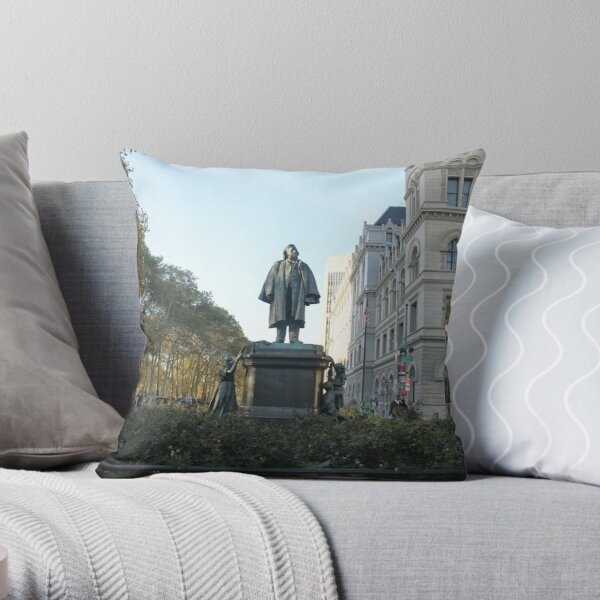 #architecture, #outdoors, #city, #sky, #old, #tree, #town, #day, #parkland, #park, #exterior Throw Pillow