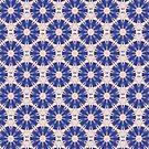 Blau Blumen Muster von Costa100