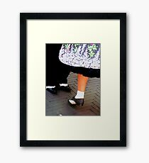 Two tone dancing shoes Framed Print