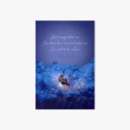 iKON I'M OK lyrics Art Board Print