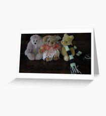 Three Little Teddies. Greeting Card