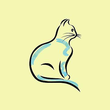 Watercolor Cat by eldram