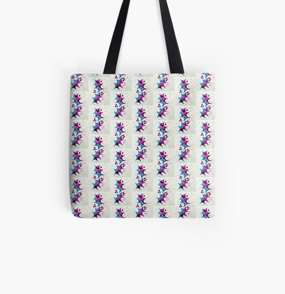 Festive Holly All Over Print Tote Bag