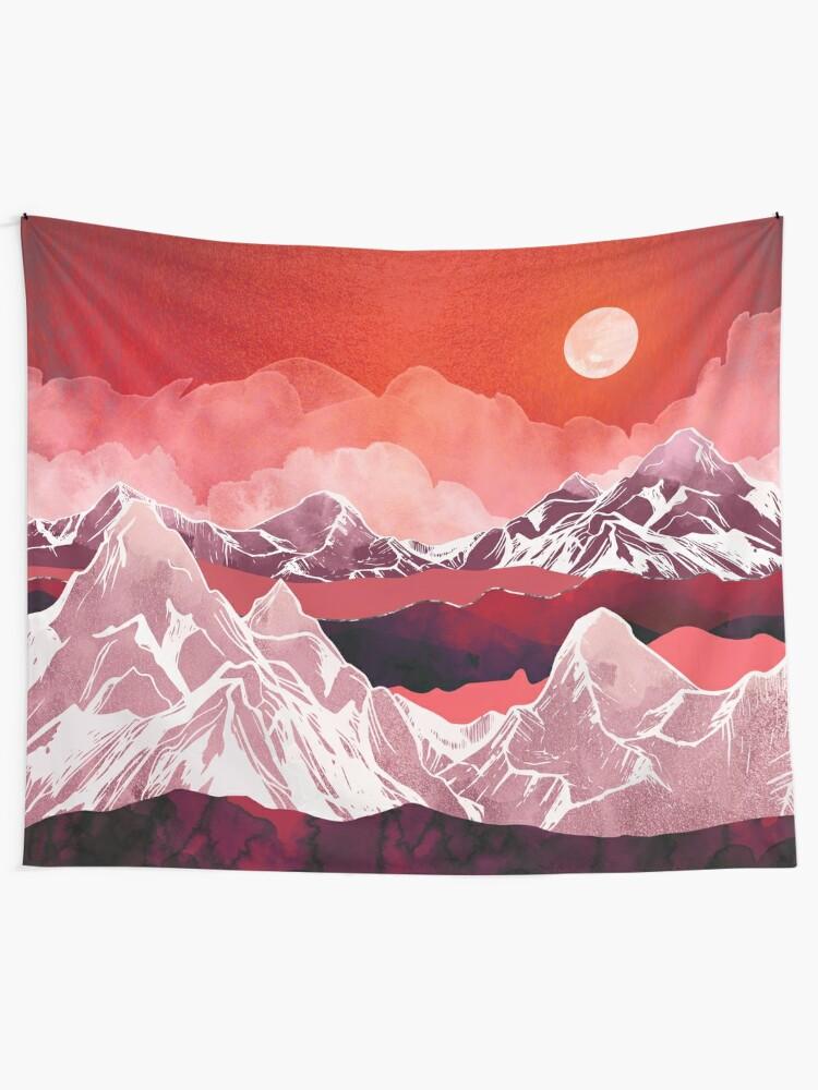 Alternate view of Scarlet Glow Tapestry