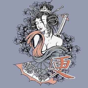 Geisha Samurai, Budo Girl in  Iaido, Kendo, Aikido, Jiu Jitsu,  Erotic Art  by MDAM