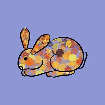 Watercolor Rabbit by eldram