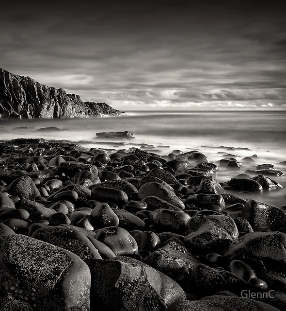 Beached basalt boulders. by GlennC