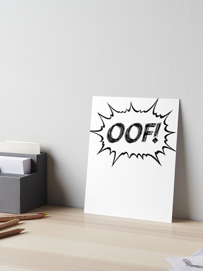 OOF! video game sound effect comic gaming ouch! | Art Board Print