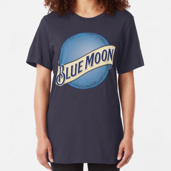 Blue Moon Bier Slim Fit T-Shirt
