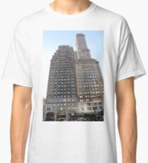 #famous #place, #international #landmark, #Apple Store, New York City, USA, american culture, architecture, city, skyscraper, office, modern, sky, business, cityscape, tower Classic T-Shirt