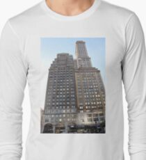 #famous #place, #international #landmark, #Apple Store, New York City, USA, american culture, architecture, city, skyscraper, office, modern, sky, business, cityscape, tower Long Sleeve T-Shirt