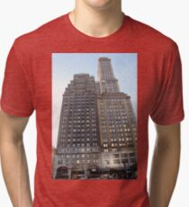#famous #place, #international #landmark, #Apple Store, New York City, USA, american culture, architecture, city, skyscraper, office, modern, sky, business, cityscape, tower Tri-blend T-Shirt