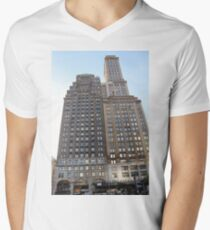 #famous #place, #international #landmark, #Apple Store, New York City, USA, american culture, architecture, city, skyscraper, office, modern, sky, business, cityscape, tower Men's V-Neck T-Shirt