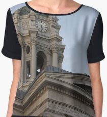 #famous #place, #international #landmark, Bunker Hill Monument, Dock Square, USA, #american culture, statue, dome, spire, architecture Chiffon Top
