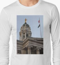 #famous #place, #international #landmark, Bunker Hill Monument, Dock Square, USA, #american culture, statue, dome, spire, architecture Long Sleeve T-Shirt