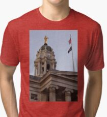 #famous #place, #international #landmark, Bunker Hill Monument, Dock Square, USA, #american culture, statue, dome, spire, architecture Tri-blend T-Shirt